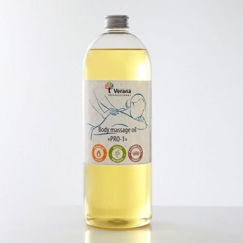 Masāžas eļļa ķermenim Verana Professional PRO-1, 1 litrs (bez aromāta)