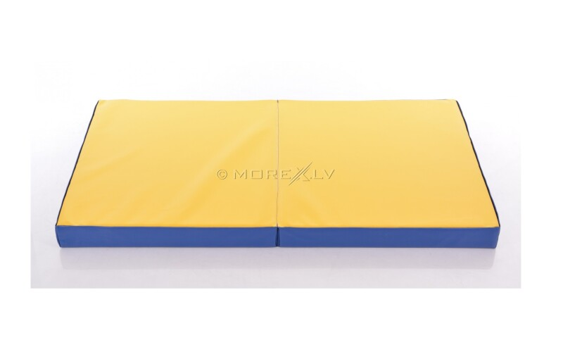 Мат из искусственной кожи 66x120см сине-желтый