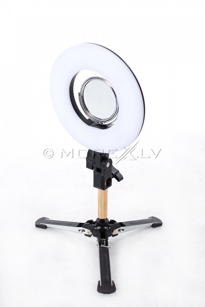 Gredzenveida LED lampa foto un video uzņemšanai Ø20 cm, 24W (9601LED-8)