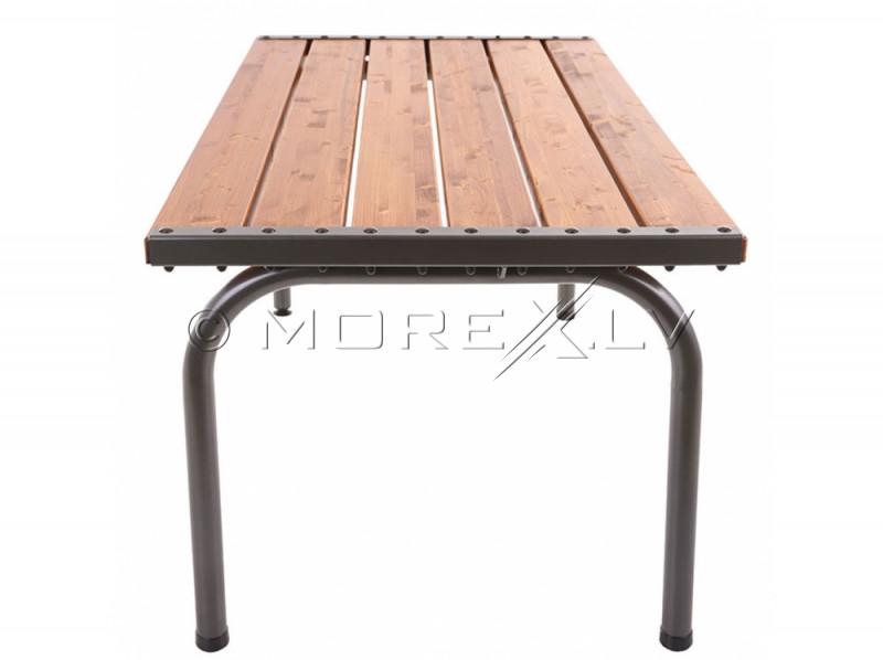 Dārza galds ar koka galda virsmu, 151x86x73 cm