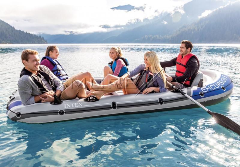Надувная лодка Intex EXCURSION 5 BOAT SET, 366x168x43 (68325)