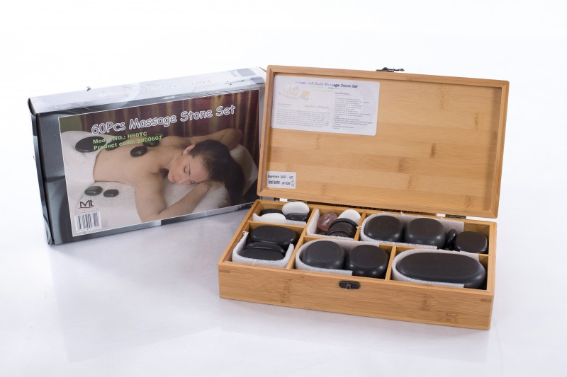 Hot Stone Therapy – Professional Set of 60 Stones.