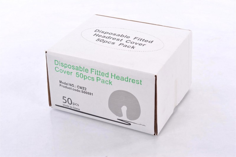 Disposable Fitted Head Rest Covers - 50 pack