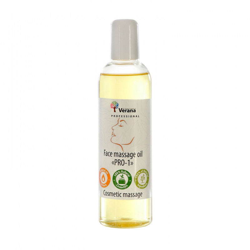 Face massage oil Verana Professional PRO-1, 250ml (without aroma)