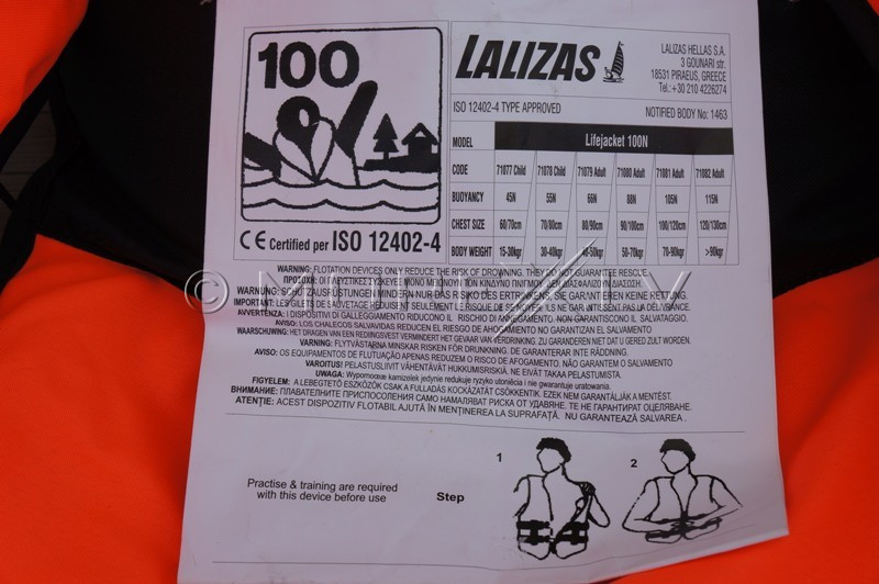 Glābšanas veste Lalizas, 40-50 kg