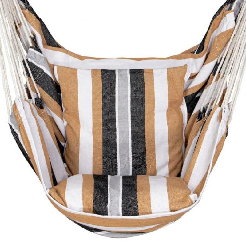 Guļamtīkls-šūpuļkrēsls 130x100 cm, krāsains