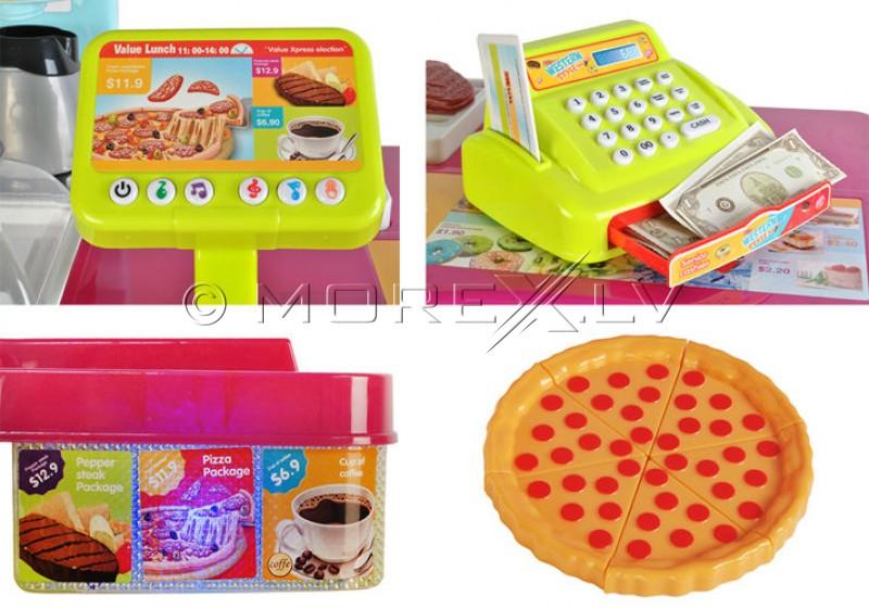 Bērnu lielveikals ar kasi, traukiem un produktiem (00006081)