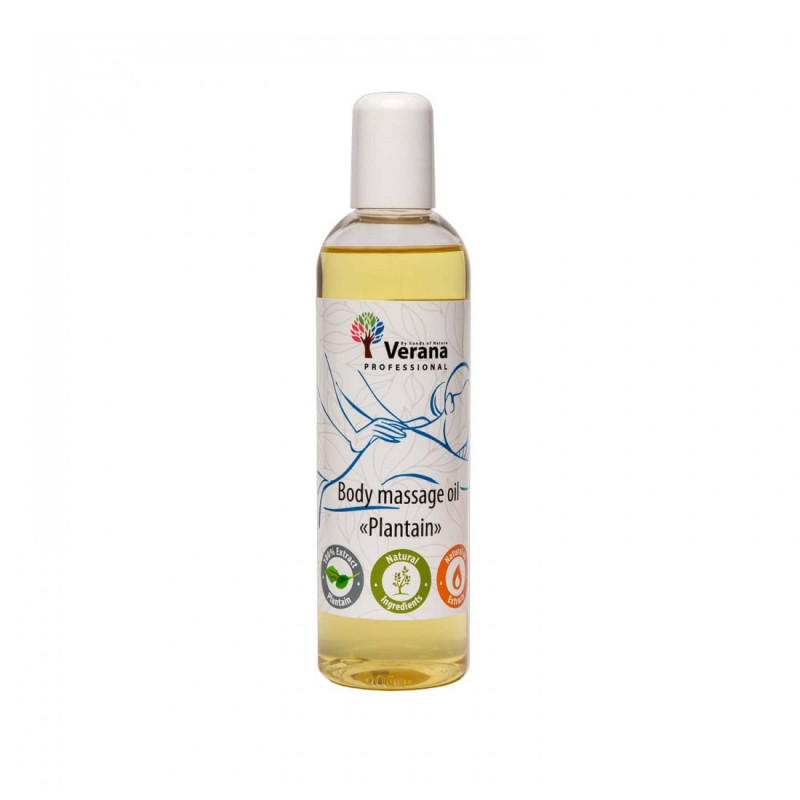 Массажное масло для тела Verana Professional, Подорожник 250мл