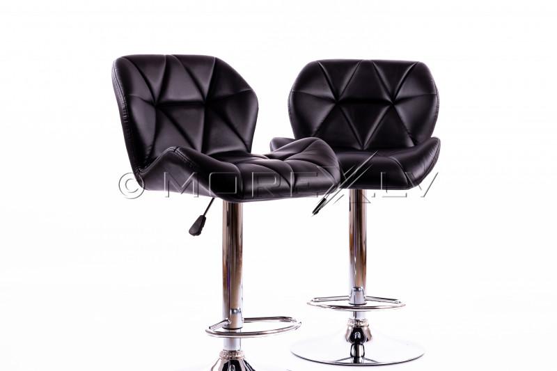 Melni bāra krēsli B01 - 2 gb.