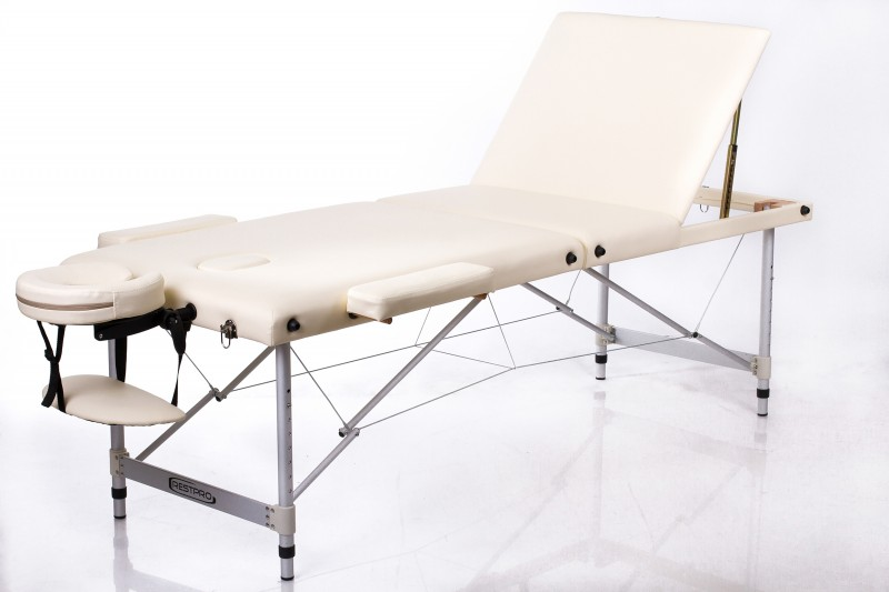 RESTPRO® ALU 3 Cream Portable Massage Table