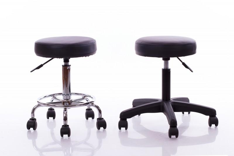 Meistara krēsls RESTPRO® Round 1 black (kosmetologa, masiera krēsls)