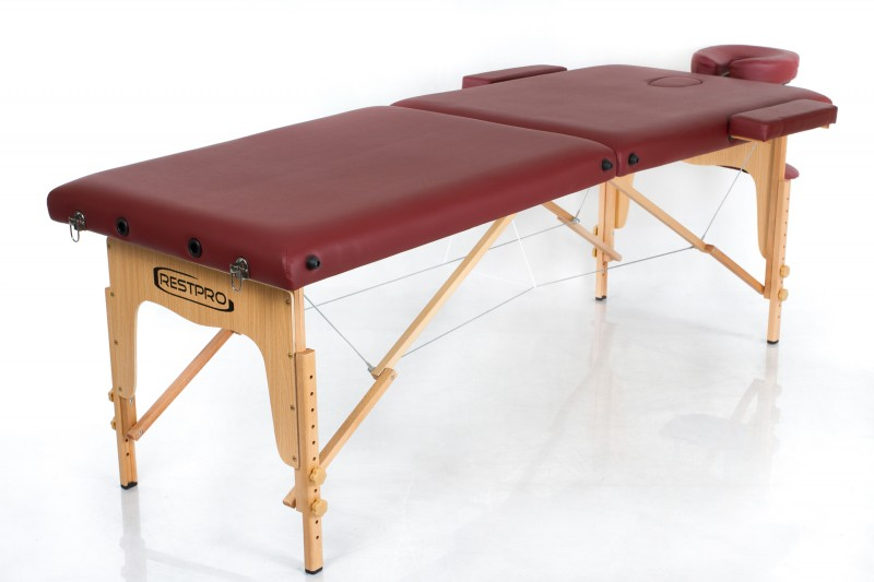 RESTPRO® Classic-2 Wine Red masāžas galds (kušete)