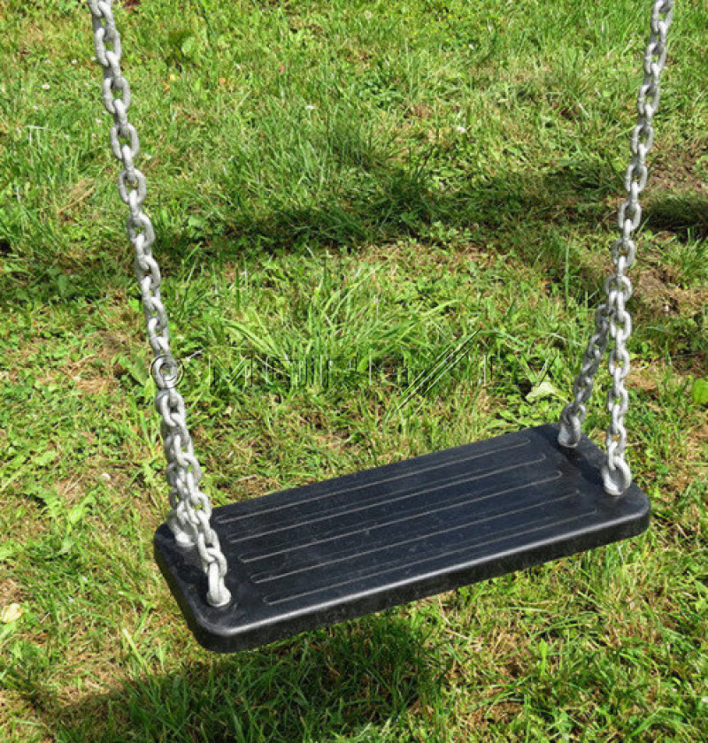 Šūpoļu gumijas sēdeklis Just Fun ''Taisnais Eko'', 44.5x17.5 cm, melns