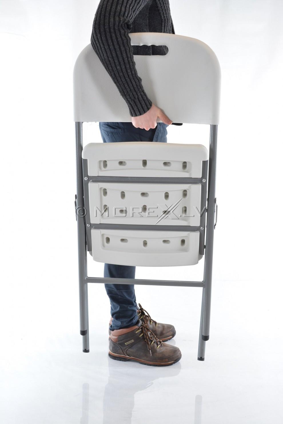 Saliekamais krēsls ar atzveltni